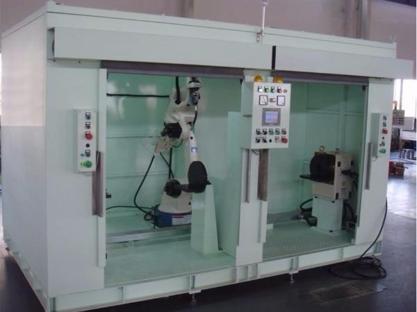 双工位旋转焊接机器人系统